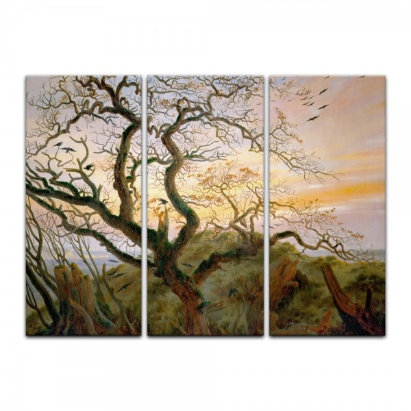 Leinwandbild - Caspar David Friedrich - Der Baum der Krähen