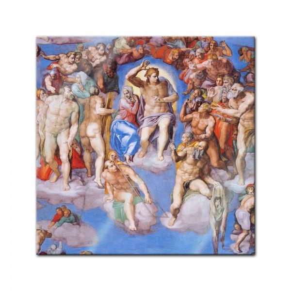 Glasbild Michelangelo - Alte Meister - Jüngstes Gericht - Detail