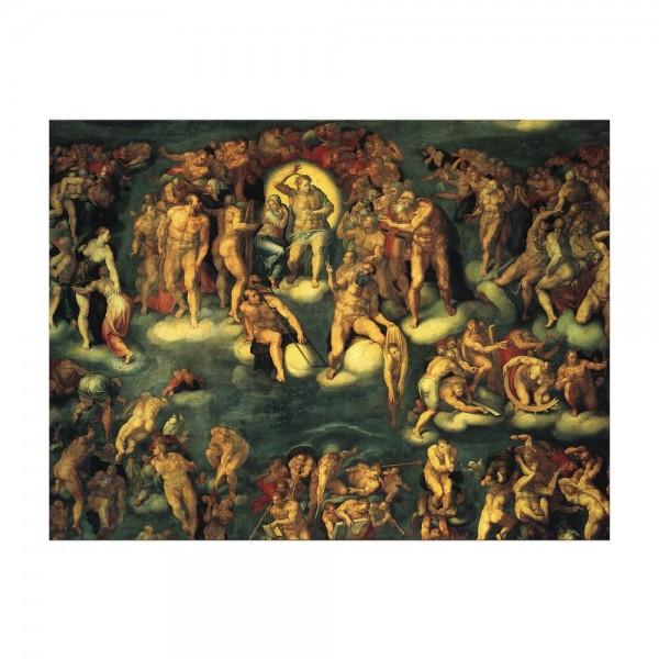 Leinwandbild - Michelangelo - Jüngstes Gericht I