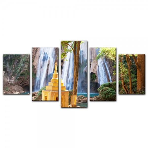 Leinwandbild - Waterfall in Myanmar