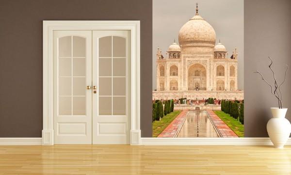 SALE Fototapete Taj Mahal - 50 cm x 75 cm - farbig