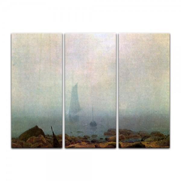 Leinwandbild - Caspar David Friedrich - Meeresstrand im Nebel