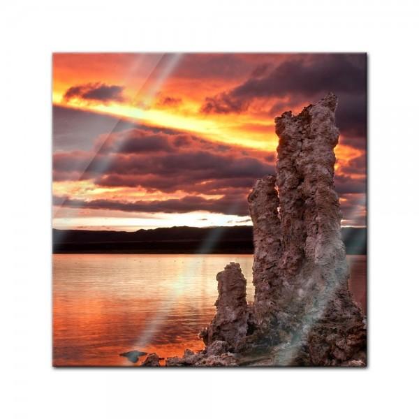 Glasbild - Mono Lake