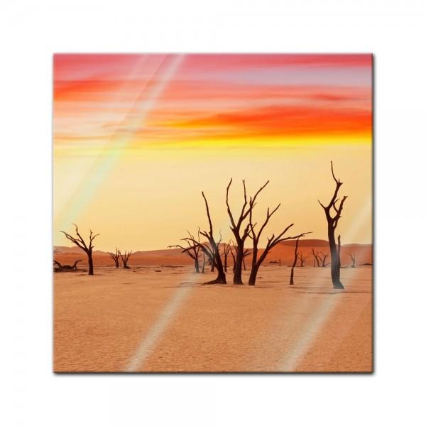 Glasbild - Death Valley - Namibia