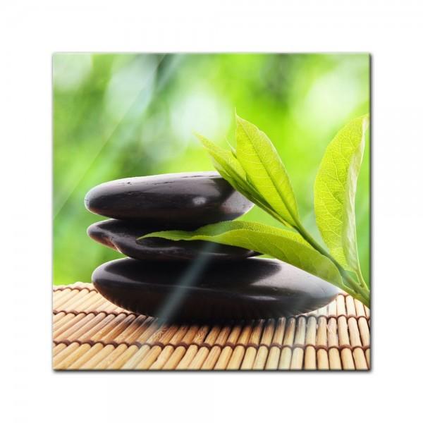 Glasbild - Zen Steine V