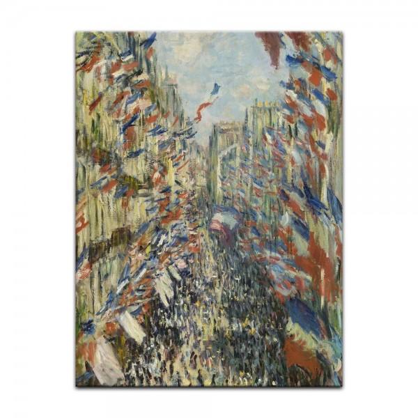Leinwandbild - Claude Monet - Die Rue Montorgueil in Paris, Feier Juni 30