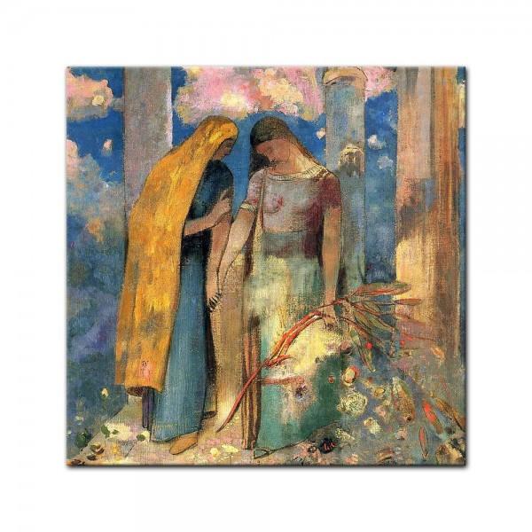 Leinwandbild - Odilon Redon - Mystisches Gespräch