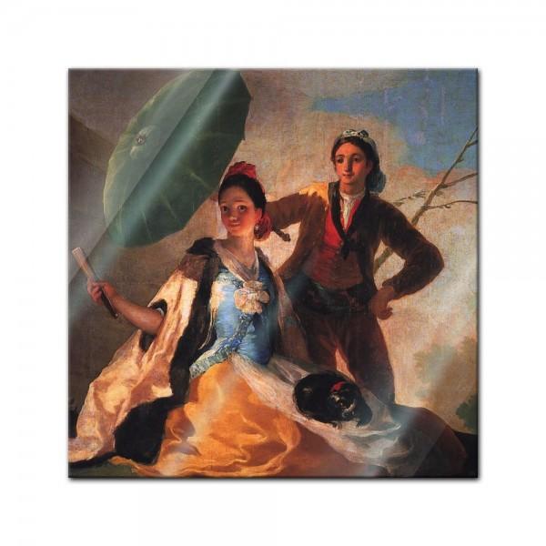 Glasbild Francisco de Goya - Alte Meister - Der Sonnenschirm