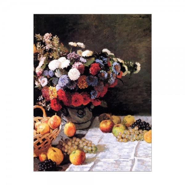 Leinwandbild - Claude Monet - Blumen und Früchte