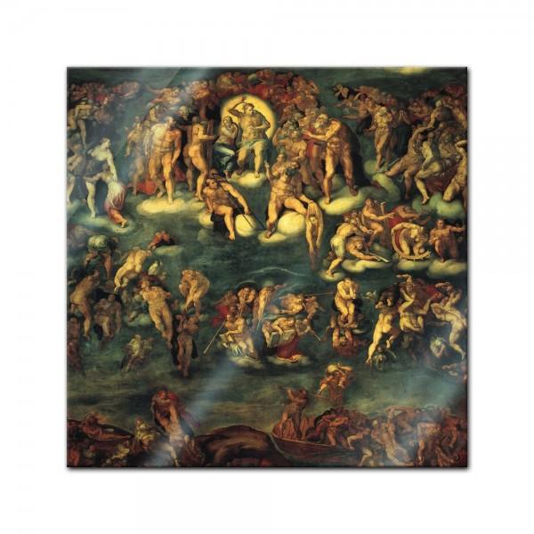 Glasbild Michelangelo - Alte Meister - Jüngstes Gericht I