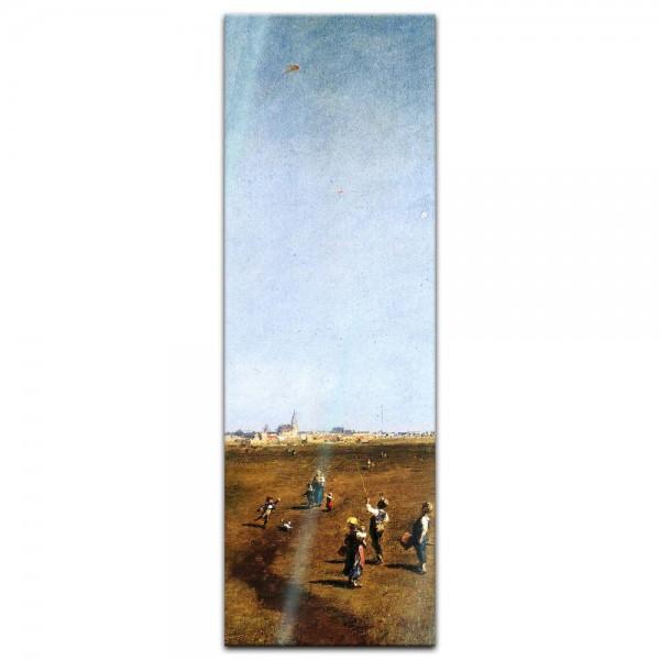 Glasbild Carl Spitzweg - Alte Meister - Drachensteigen