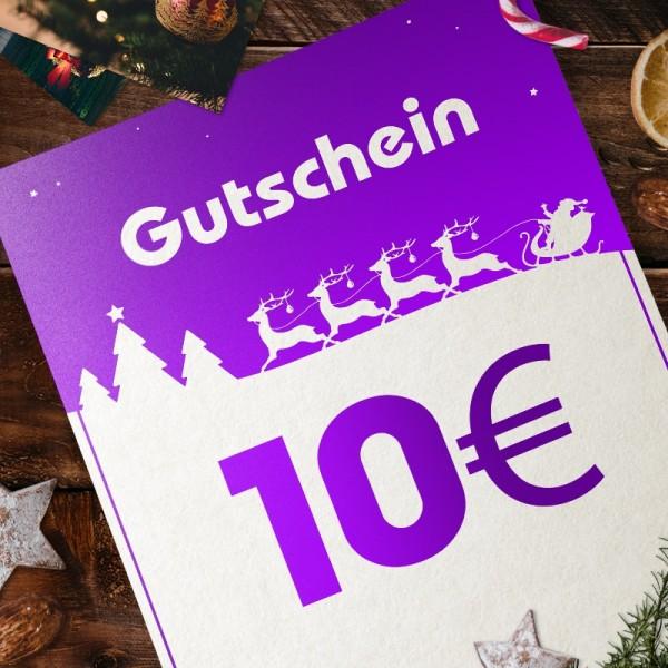 Express-Gutschein für Weihnachten über 10 EUR zum Selbstausdrucken