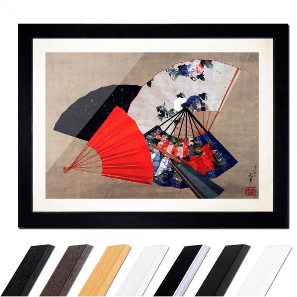 Katsushika Hokusai - Fünf Fächer