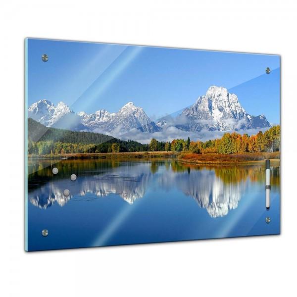 """Memoboard - Landschaft - Berglandschaft - """"Oxbow Bend"""" USA"""