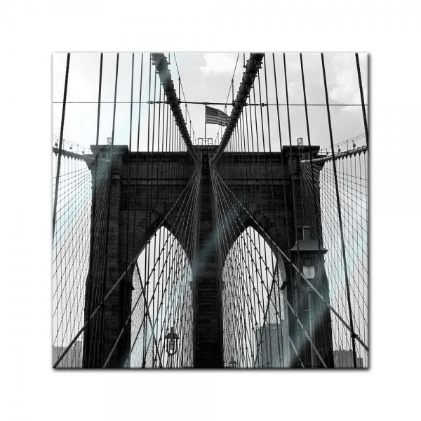 Glasbild - New York Bridge I