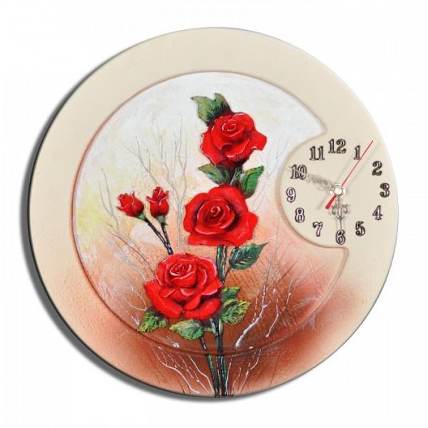 Wanduhr Blumen K 02