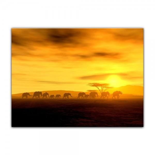 Leinwandbild - African Spirit - Die Wanderung der Elefanten
