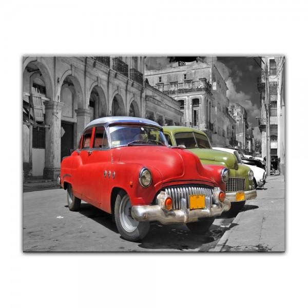 Leinwandbild - Oldtimer Kuba