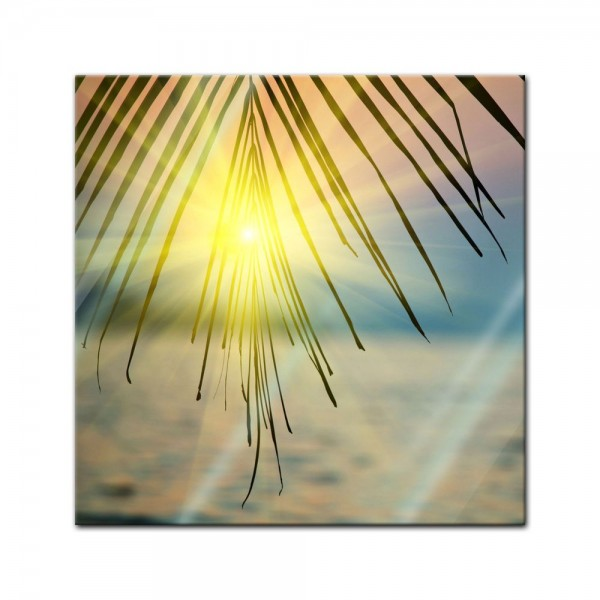 Glasbild - Tropischer Sonnenuntergang III