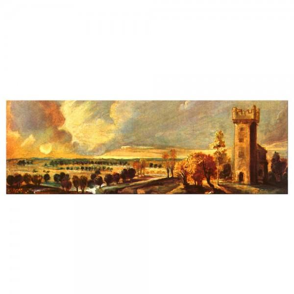 Leinwandbild - Peter Paul Rubens - Landschaft mit dem Turm des Schlosses Stehen