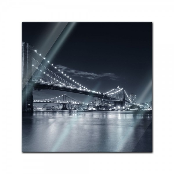 Glasbild - New York Bridge III