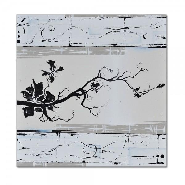 Abstrakte Kunst M4 handgemaltes Leinwandbild 80x80cm - 4cm Galerierahmen! - 804