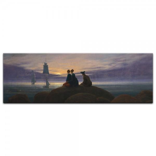 Leinwandbild - Caspar David Friedrich - Mondaufgang am Meer
