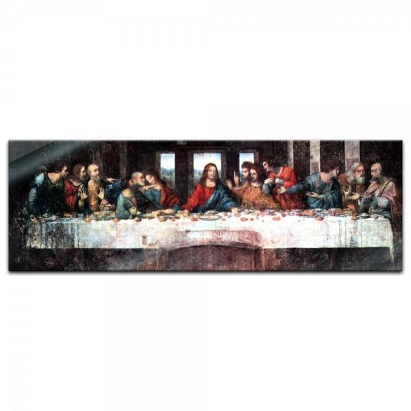 Glasbild Leonardo da Vinci - Alte Meister - Das Abendmahl