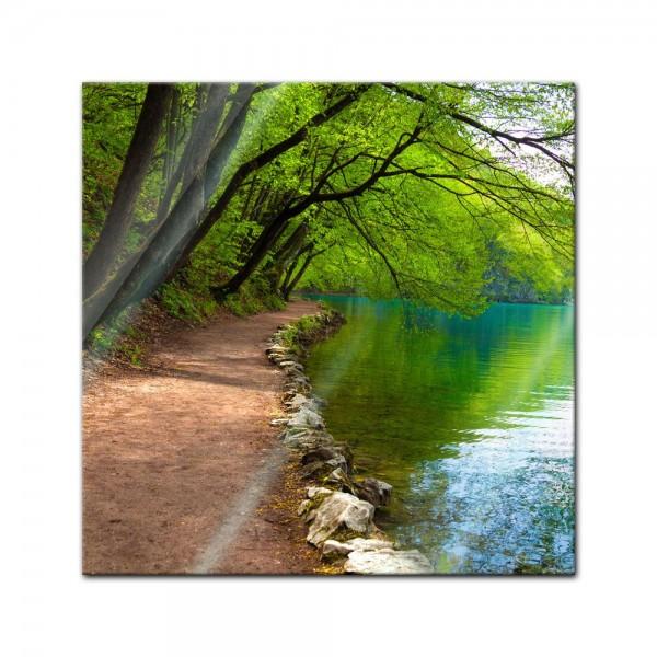 Glasbild - Flussufer