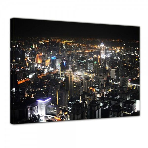 SALE Leinwandbild - Bangkok at Night - 50x40 cm