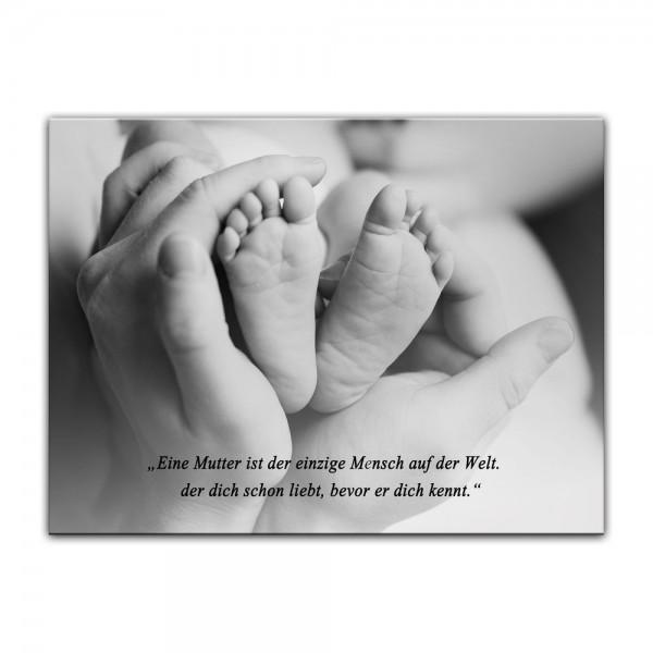 Leinwandbild mit Zitat - Mutterliebe (Unbekannt)