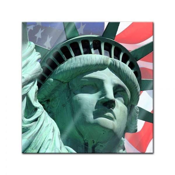 Glasbild - Statue of Liberty - New York USA II