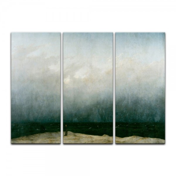 Leinwandbild - Caspar David Friedrich - Der Mönch am Meer