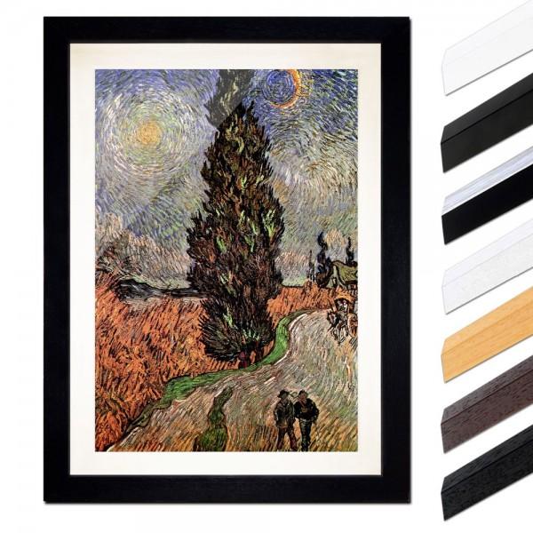 Vincent van Gogh - Zypressenweg unter dem Sternenhimmel