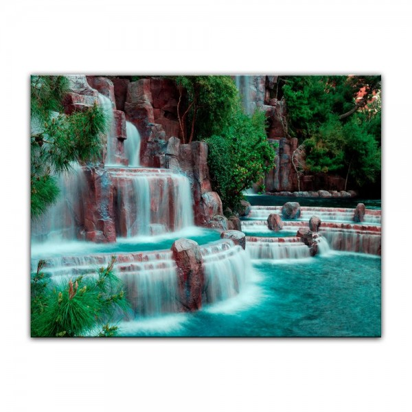 Leinwandbild - Wasserfall vor dem Wynn Hotel - Las Vegas