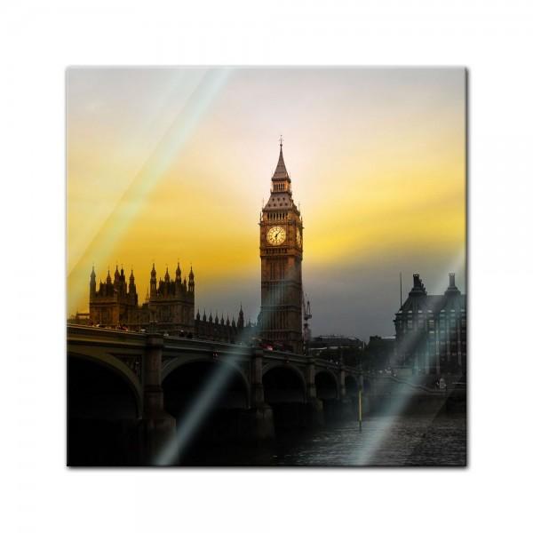 Glasbild - Big Ben London UK II