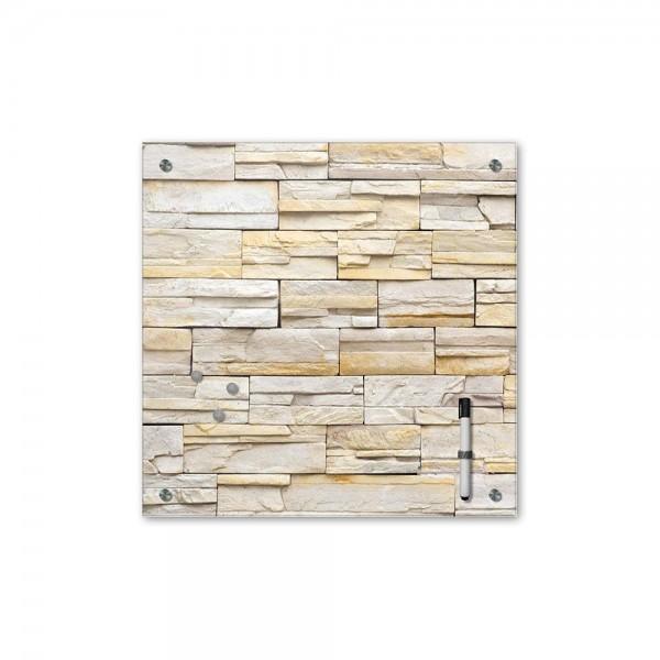 Memoboard - Textur & Hintergrund - Mauerwerk I - 40x40 cm