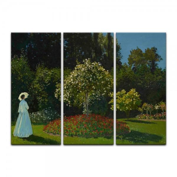 Leinwandbild - Claude Monet - Frau im Garten