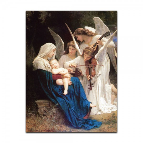 Leinwandbild - William-Adolphe Bouguereau - Das Lied der Engel
