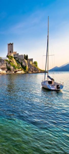 Türtapete selbstklebend Malcesine am Gardasee 90 x 200 cm Italien Europa See Verona Gemeinde Skalig