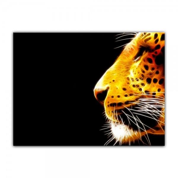 Leinwandbild - Leopard Neon
