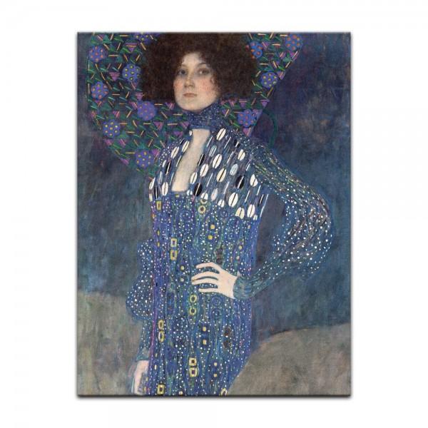Leinwandbild - Gustav Klimt - Porträt der Emilie Flöge