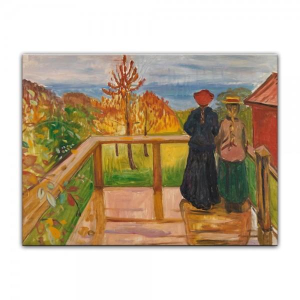 Leinwandbild - Edvard Munch - On the Veranda