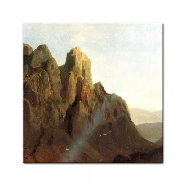 Glasbild Carl Spitzweg - Alte Meister - Morgengrauen im Karwedel