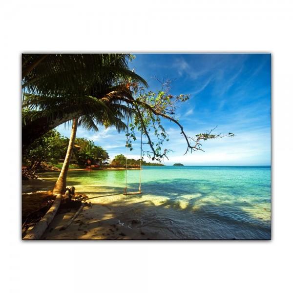 Leinwandbild - Tropical Beach under blue Sky - Thailand