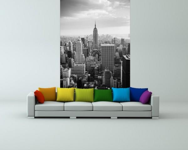 SALE Fototapete New York City - USA II - 130 cm x 200 cm - schwarz/weiß