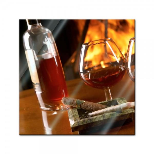 Glasbild - Congnac Zigarre