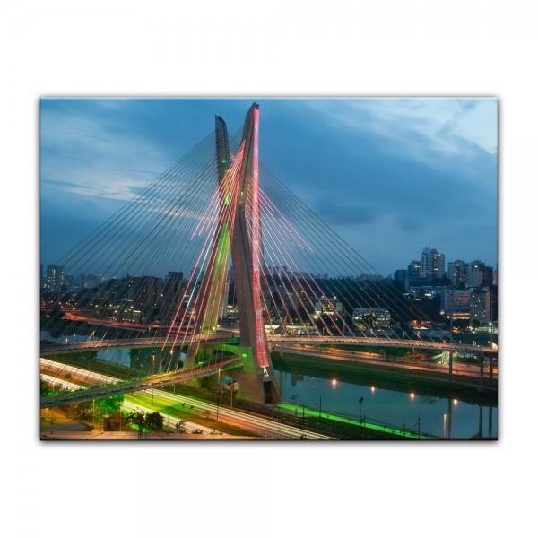 Leinwandbild - The Bridge - Sao Paulo Brasilien