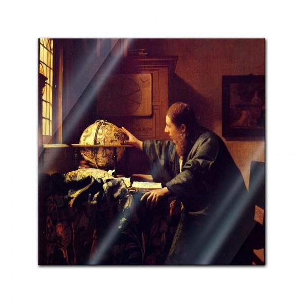 Glasbild Jan Vermeer - Alte Meister - Der Astronom