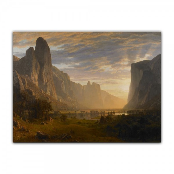 Leinwandbild - Albert Bierstadt - Looking Down Yosemite Valley, California